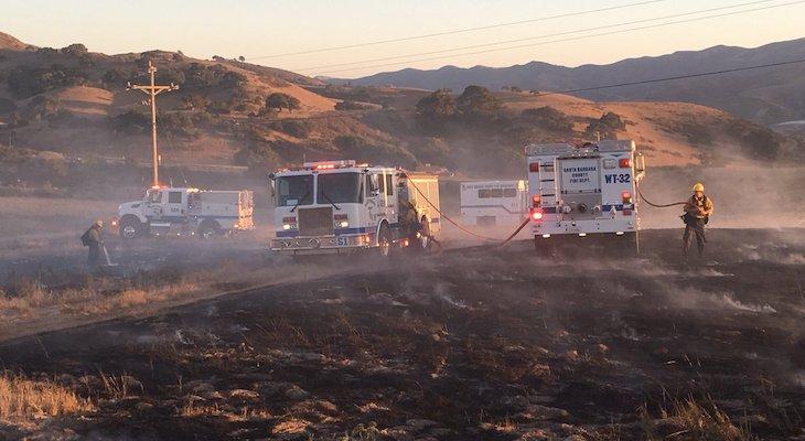 Fire Crews Extinguish Brush Fire Near Buellton