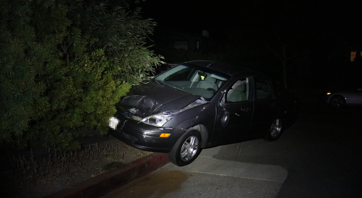 Double hit and run collision (SBPD Photo)