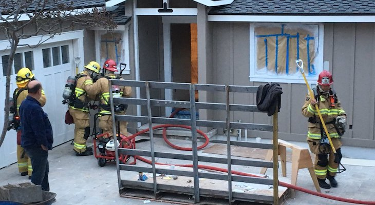 Fire Put Out in Mission Canyon Home Under Construction title=