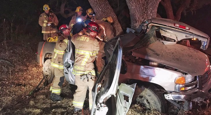 Man Seriously Injured After Crashing Vehicle into Tree on SR-154 title=