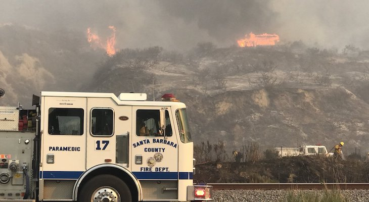 Thomas Fire Expanding Further into Santa Barbara