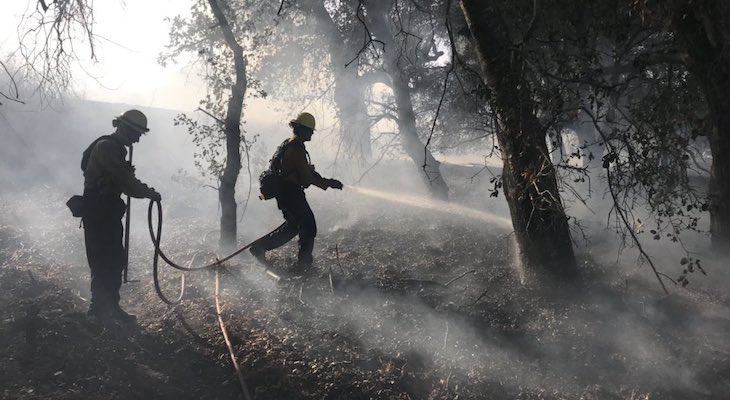 Three Separate Brush Fires Spark Near Cat Canyon title=