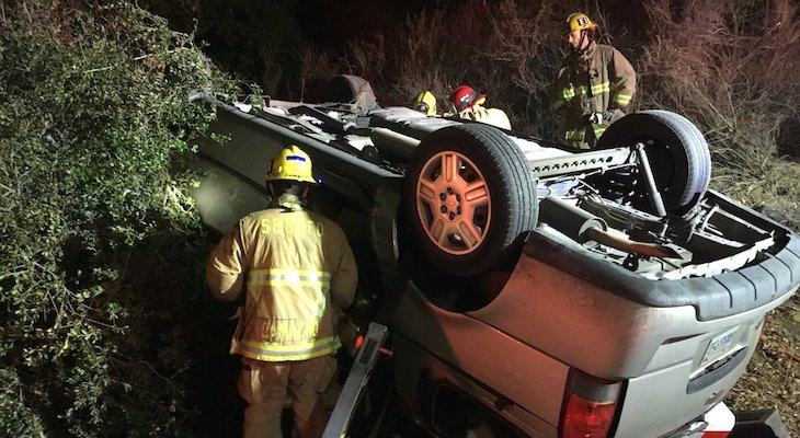 Vehicle Crashes into Tree Causing Major Injuries