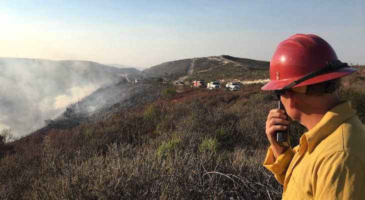 Crews Up Containment Lines On Stubborn Thomas Fire