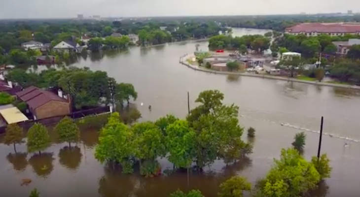 Drone Footage of Harvey Aftermath title=