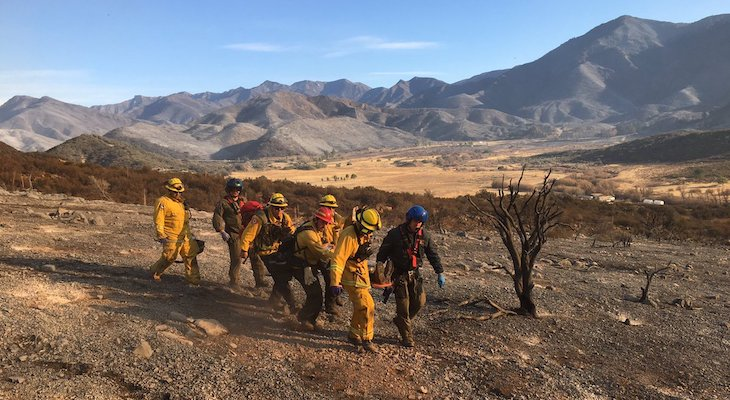 Two Firefighters Injured While Battling Thomas Fire title=