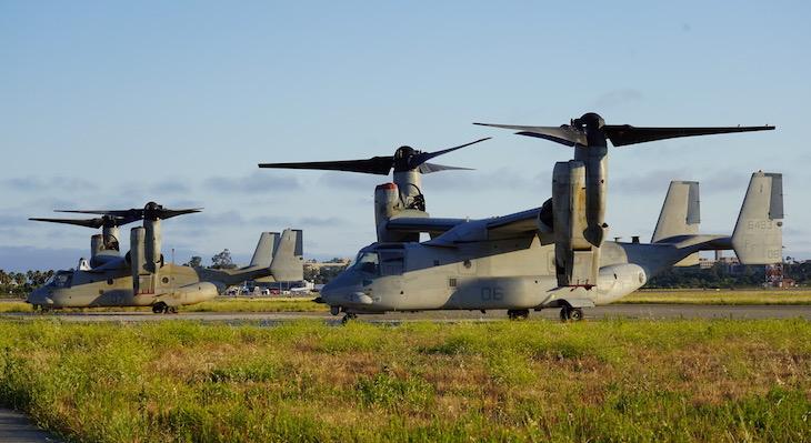 Marine V-22 Ospreys Visit
