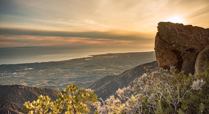 Sunset at La Cumbre Peak