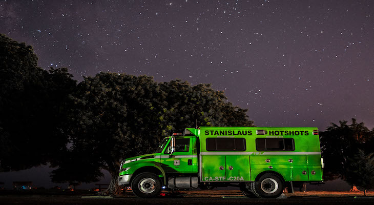 Hotshot Trucks Spotted at Goleta Beach