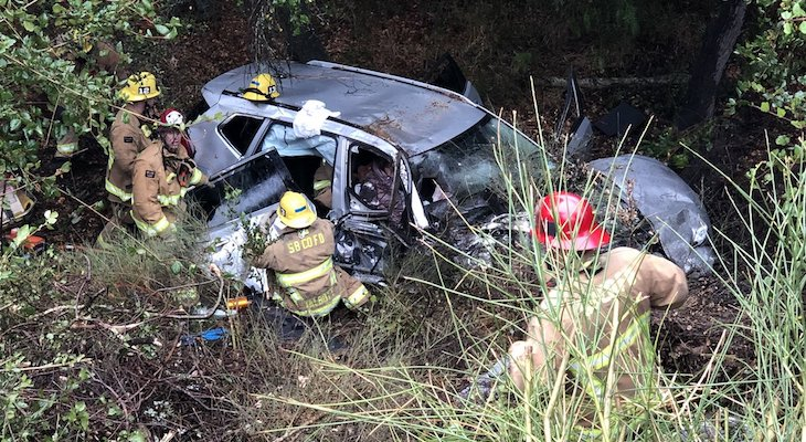 Three Injured in Vehicle Collision on SR-154
