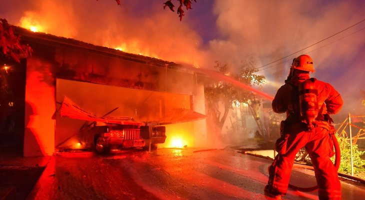 Mission Canyon Home Damaged in Fire title=