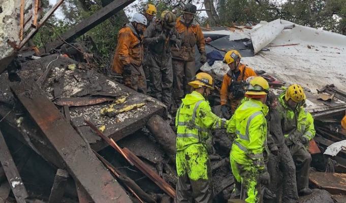 17 People Confirmed Dead, 5 Missing in Montecito Mudslides