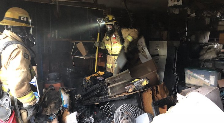 Firefighters Knock Down Fire in Detached Garage