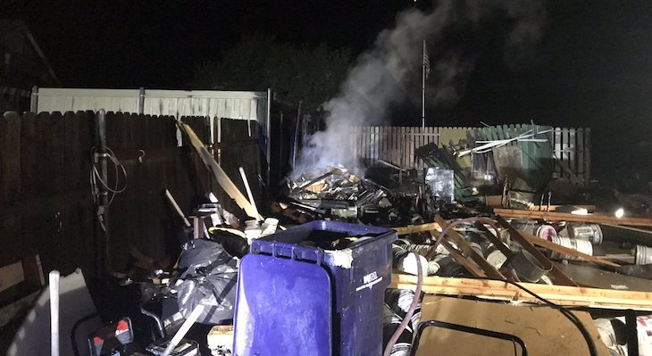Lompoc Shed Explosion Caused by Hash Oil Lab title=