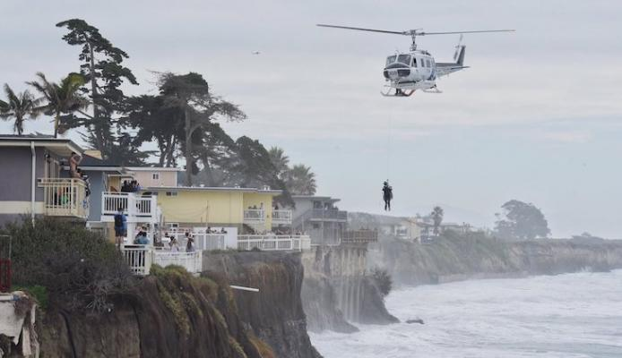 High Surf Causes Five Ocean Rescues Off Goleta title=