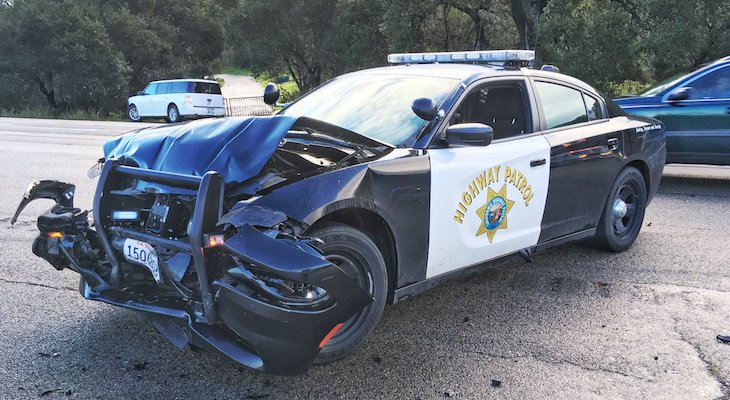 CHP Involved Traffic Collision Causes Traffic Delays