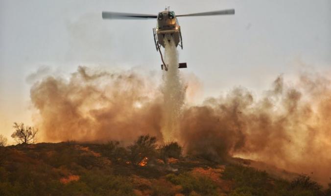 Vegetation Fire Near Zaca Lake