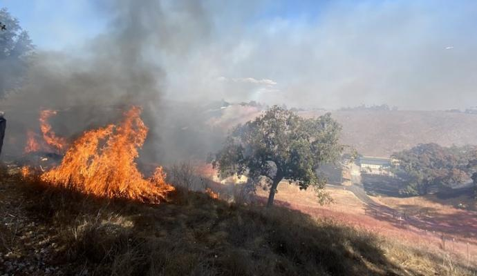 Caballo Fire Caused by Propane Torch title=