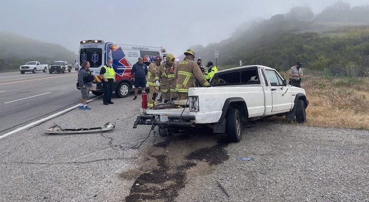 Traffic Collision Near Nojoqui Summit title=
