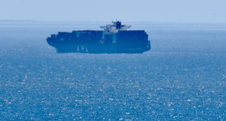 Engine Fire on Container Vessel Off El Capitan Beach title=