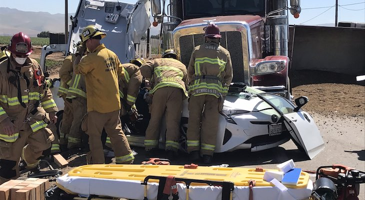 Semi-Truck Collision Sends Three to Hospital title=