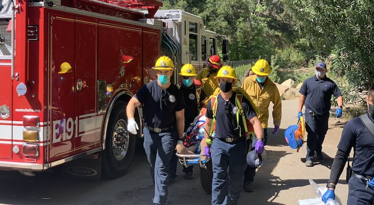 Injured Hiker Rescued at Hot Springs Trail