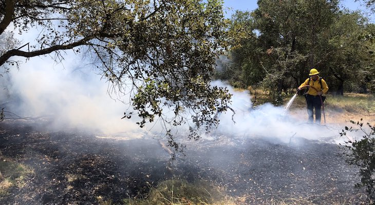 Small Brush Fire Knocked Down Near Dos Pueblos High title=