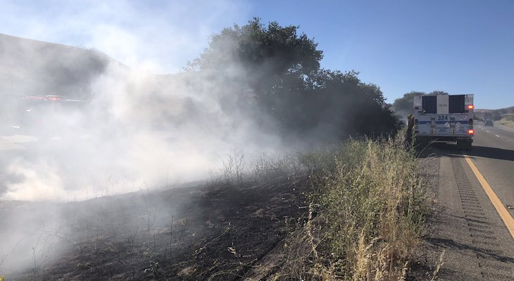 Small Highway 101 Brush Fire Contained Near Los Alamos