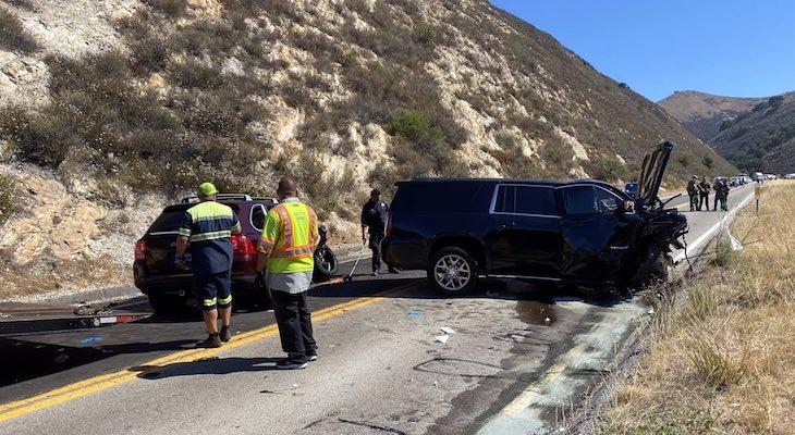 Three Injured in Highway 166 Traffic Collision