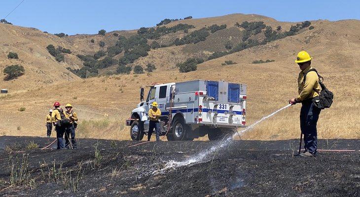 Vegetation Fire near Nojoqui Summit title=