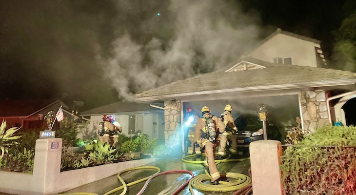 Goleta Structure Fire Displaces Residents