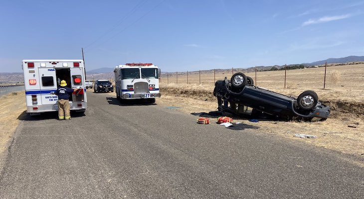 Two Seriously Injured in New Cuyama Traffic Collision
