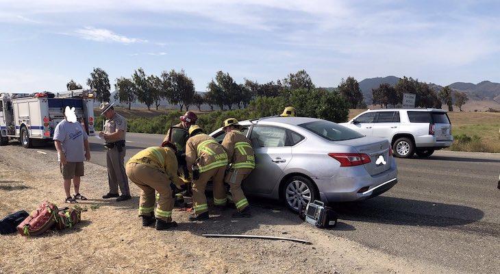 Two Injured in Traffic Collision Near Los Alamos