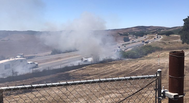 Car Fire Spreads to Brush Near Los Alamos