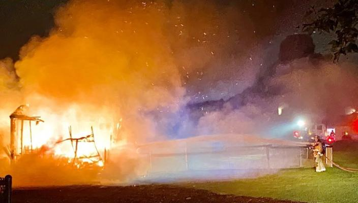 Arson Suspected in Girsh Park Storage Shed Fire