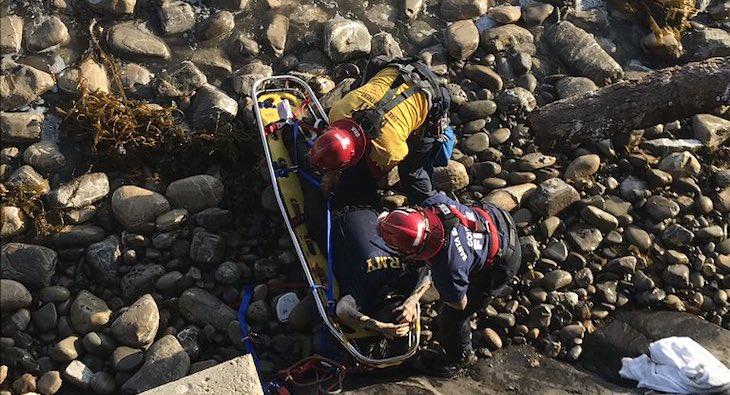 Woman Rescued After Falling Near Ellwood Pier title=