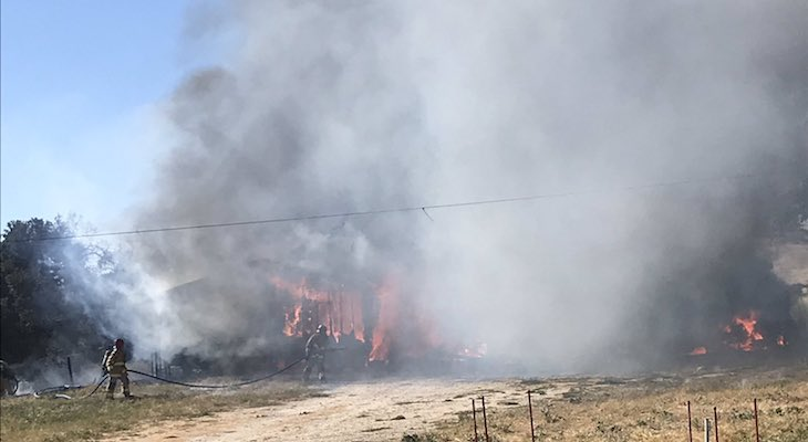 Structure Fire in Buellton