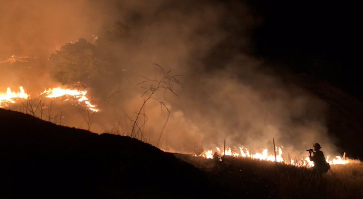 Firefighters Stop 100 Acre Fire in Happy Canyon