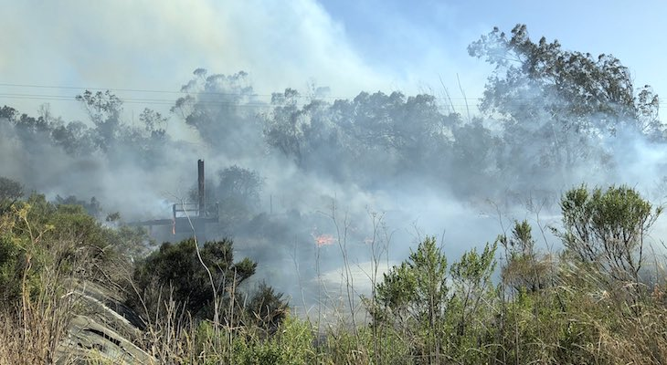 Two Small Brush Fires in Santa Maria