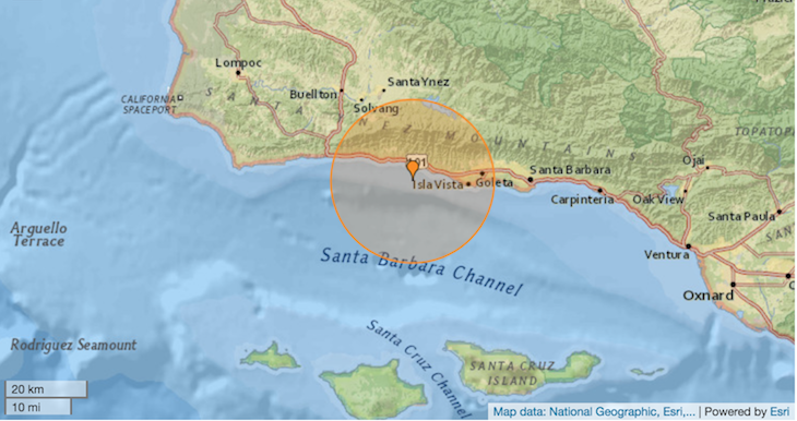 3.1 Magnitude Earthquake off Isla Vista Coast