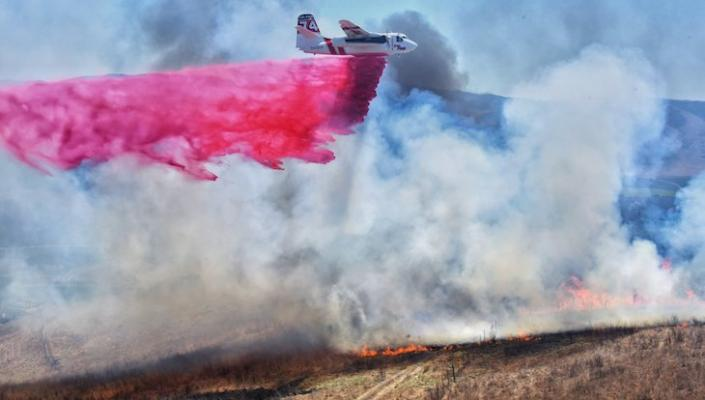 Drone Interrupts Firefighters Tackling Brush Fire Near Lompoc
