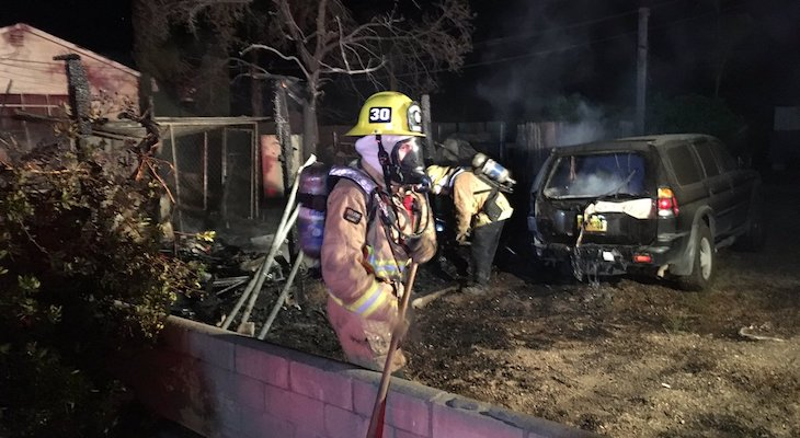 Firefighters Respond to Shed and Vehicle Fire in Santa Ynez