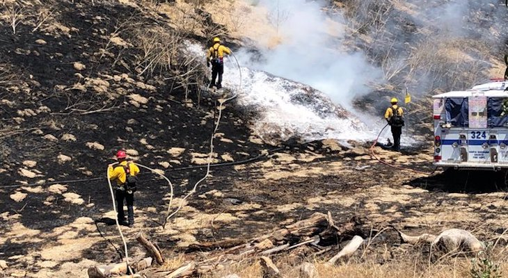 Brush Fire Contained Near Casmalia