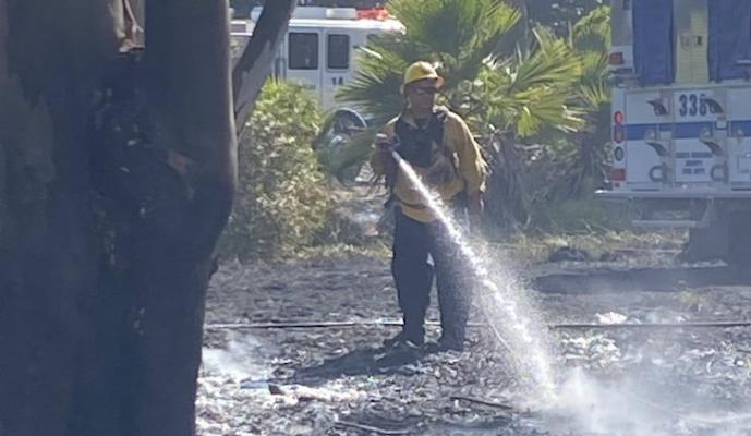 One Acre Brush Fire Near Dos Pueblos Ranch title=