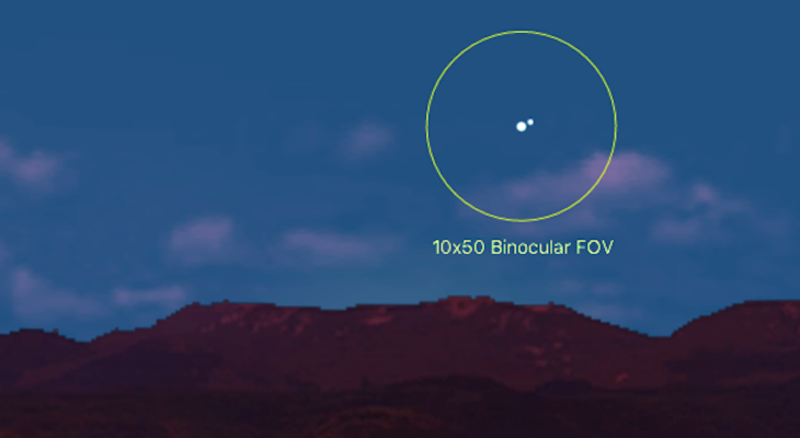Bright Conjunction This Weekend title=