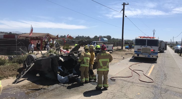 Vehicle Crashes in Power Pole Near Orcutt