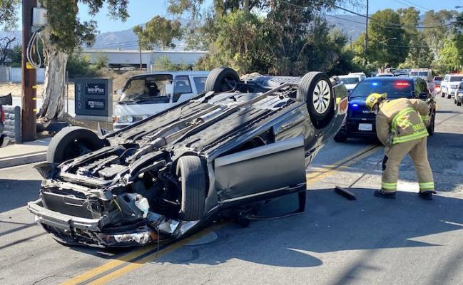 Rollover Traffic Collision in Old Town Goleta