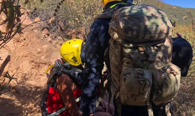 Dehydrated Hiker Airlifted from Cathedral Peak title=