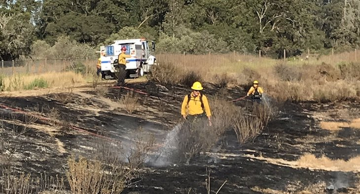 Small Brush Fire Contained Near Santa Maria
