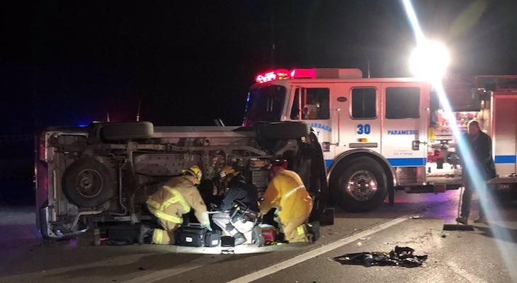 Three Injured in Santa Ynez Vehicle Collision